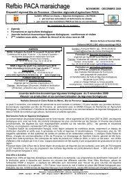 décembre 2009 - GRAB, Groupe de Recherche en Agriculture ...