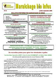MBI 61 juillet août septembre 2009 - GRAB, Groupe de Recherche ...
