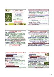 MIFFEL 2011 - GRAB, Groupe de Recherche en Agriculture ...