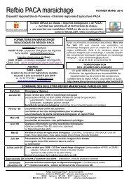 mars 2010 - GRAB, Groupe de Recherche en Agriculture Biologique