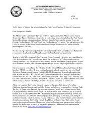UNITED STATES MARINE CORPS - MCCS 29 Community Services