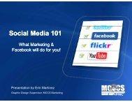 Social Media 101 - MCCS 29 Community Services
