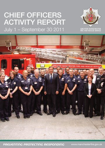 Chief Officers Activity Report 1 July - 30 September 2011 PDF 6 MB