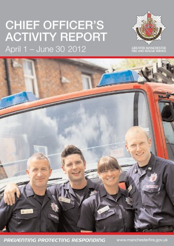 Activity Report Greater Manchester Fire And Rescue Service