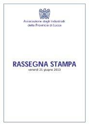 Rassegna Stampa 21 giugno 2013.pdf - Associazione degli ...