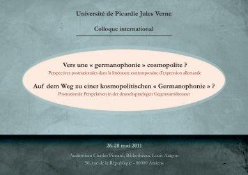 Vers une « germanophonie » cosmopolite P - Calenda