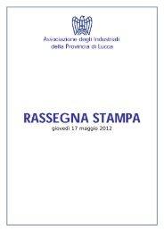 Rassegna Stampa 17 maggio 2012.pdf - Associazione degli ...