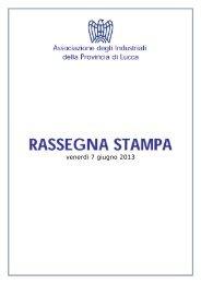 Rassegna Stampa 7 giugno 2013.pdf - Associazione degli ...