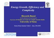Energy Growth, Efficiency and Complexity