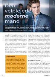 Den velplejede, moderne mand - Fagbladet Kosmetik