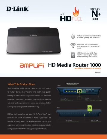 HD Media Router 1000 - FTP - D-Link