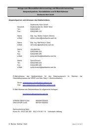 Anlage: Ansprechpartner, Kontaktdaten und E-Mail-Adressen