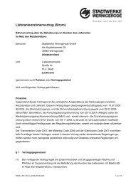 Lieferantenrahmenvertrag (Strom) - Stadtwerke Wernigerode