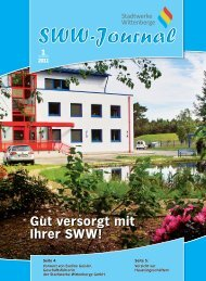 SWW Journal 01/2011 - Stadtwerke Wittenberge
