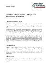 Ergebnisse der Hundesteuer-Umfrage 2010 des Deutschen ...
