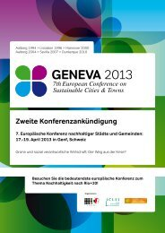 Zweite Konferenzankündigung 7. Europäische Konferenz ...