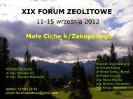 xix forum zeolitowe