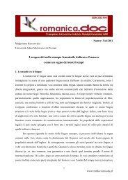 I neoprestiti nella stampa femminile italiana e francese come un ...