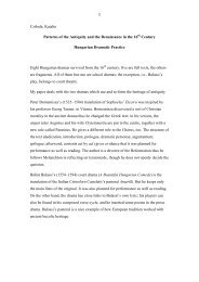 1 Czibula, Katalin Patterns of the Antiquity and the Renaissance in ...