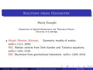 Solitons from Geometry