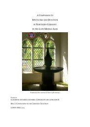 acompanion to mysticism and devotion in northern germany in the ...