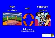 Web services Software agents and