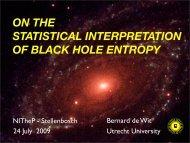 on the statistical interpretation of black hole entropy