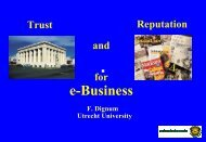 Trust and Reputation for e-Business