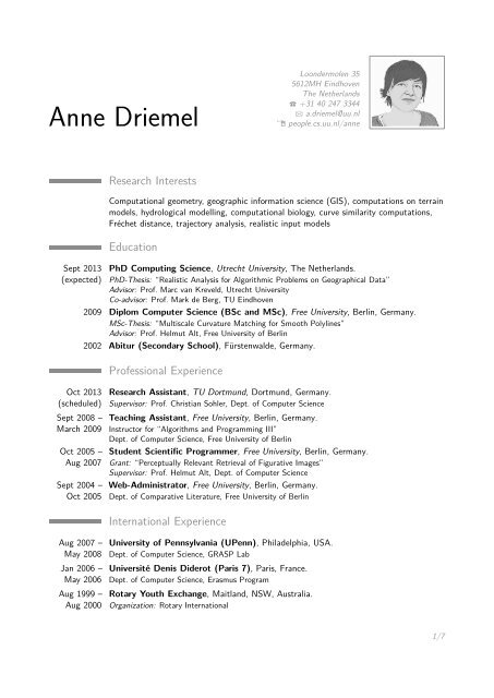 Anne Driemel –