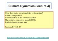 Climate Dynamics (lecture 4)