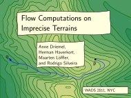 Flow Computations on Imprecise Terrains