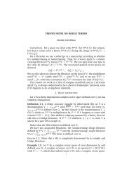 TRENTO NOTES ON HODGE THEORY Conventions. For a space ...