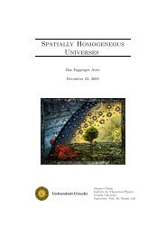 Spatially Homogeneous Universes