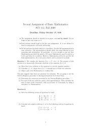 Second Assignment of Basic Mathematics SCI 112, Fall 2008