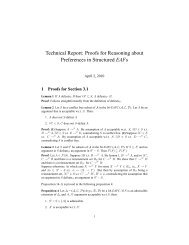 Proofs for Reasoning about Preferences in Structured EAFs