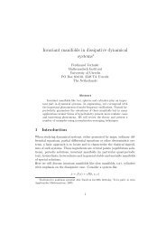 Invariant manifolds in dissipative dynamical systems∗