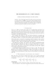 THE DISCRIMINANT OF A CUBIC SURFACE 1. Introduction 1.1. Let ...