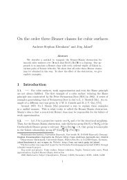 On the order three Brauer classes for cubic surfaces - Universität ...