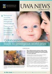 Issue 07. 1 June 2009.pdf - UWA Staff - The University of Western ...