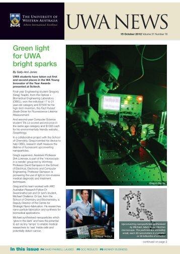 Issue 16. 15 October 2012 - UWA Staff - The University of Western ...