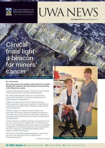 Issue 12. 22 August 2011 - UWA Staff - The University of Western ...