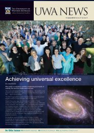 Issue 08. 11 June 2012 - UWA Staff - The University of Western ...
