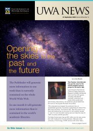 Issue 14. 21 September 2009.pdf - UWA Staff - The University of ...