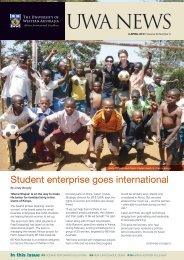 Issue 03. 4 April 2011 - UWA Staff - The University of Western Australia