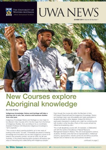 Issue 07. 30 May 2011 - UWA Staff - The University of Western ...