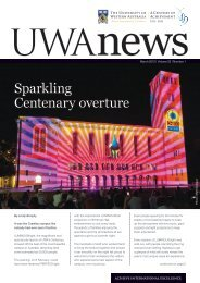 Sparkling Centenary overture - UWA Staff - The University of ...