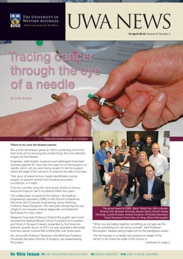 Issue 04. 16 April 2012 - UWA Staff - The University of Western ...