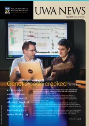 Issue 05. 5 May 2008 - UWA Staff - The University of Western Australia