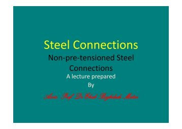 Steel Connections Part 1_Part1.pdf - Staff.zu.edu.eg