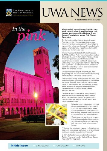 Issue 15. 6 October 2008 - UWA Staff - The University of Western ...
